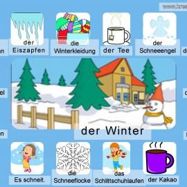 Bildwörterbuch: der Winter