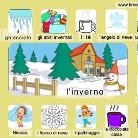 Dizionario illustrato: l'inverno